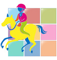 Sport icon design for equestrain in color vector image vector image