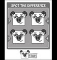 spot the difference black apricorn vector image vector image