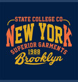 state college new york superior garments vector image vector image
