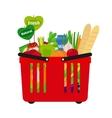 Supermarket shopping basket vector image