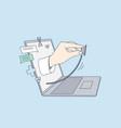 telehealth online doctor virtual healthcare vector image