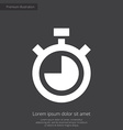 timer premium icon white on dark background vector image vector image