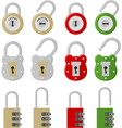 twelve padlocks vector image