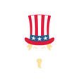 uncle sam in a striped hat patriotic american vector image vector image