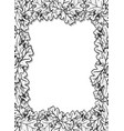 vertical decorative frame with oak leaves and vector image vector image