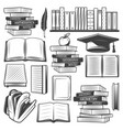vintage education elements set vector image vector image