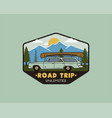 vintage hand drawn road trip logo patch with vector image vector image