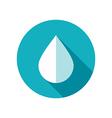 Water Rain Drop flat icon Meteorology Weather vector image