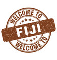 welcome to fiji brown round vintage stamp vector image vector image