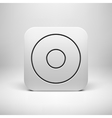 White Abstract App Icon Button Template vector image vector image