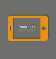 yellow phone on the gray background vector image vector image