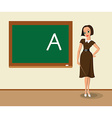 Teacher near the blackboard vector image