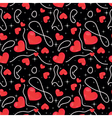 valentine seamless pattern vector image