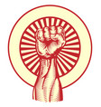 soviet propaganda poster style fist vector image
