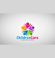children care logo design vector image