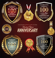 100 years anniversary labels vector image