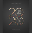 2020 celebration greeting card 3d gold vector image vector image