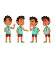 arab muslim boy kindergarten kid poses set vector image vector image
