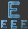 Blue line letter e logo design set vector image vector image