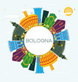 bologna italy city skyline with color buildings vector image vector image