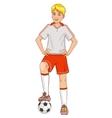 Boy with a football vector image vector image