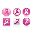 Breast Cancer Ribbon Pack vector image vector image