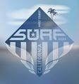 california west coast surfers emblem pacific ocean vector image vector image