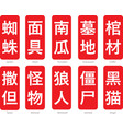 chinese word logo-19 vector image vector image