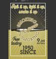color vintage marijuana banner vector image vector image