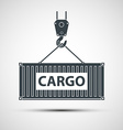 Crane lifts a container with cargo vector image vector image