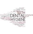 dental hygiene word cloud concept vector image vector image