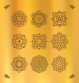 design elements graphic thai on a gold clot vector image vector image