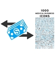 Dollar Banknotes Payments Icon with 1000 Medical vector image