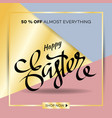 easter egg sale banner background template 24 vector image vector image