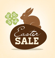 Easter Sale Background with Rabbit vector image vector image