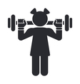 female gym icon vector image vector image