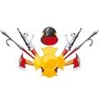 Fire-fighting equipment emblem vector image