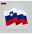 Flat and waving Slovenian Flag vector image vector image