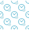 Flat remove time pattern vector image vector image