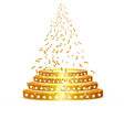 golden podium with a spotlight on a white vector image