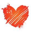 grunge heart valentine vector image vector image