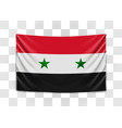 hanging flag syria syrian arab republic vector image vector image