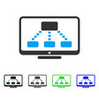 hierarchy monitoring flat icon vector image vector image