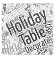 holiday table decoration Word Cloud Concept vector image vector image