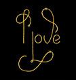 i love glitter golden hand lettering vector image vector image