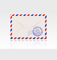 international mail envelope backside with postal vector image vector image