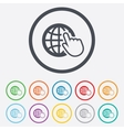Internet sign icon World wide web symbol vector image