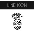 isolated freshness outline tropical fruit vector image vector image