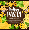 italian pasta with herbs and spices vector image vector image