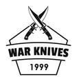 knive war logo simple black style vector image